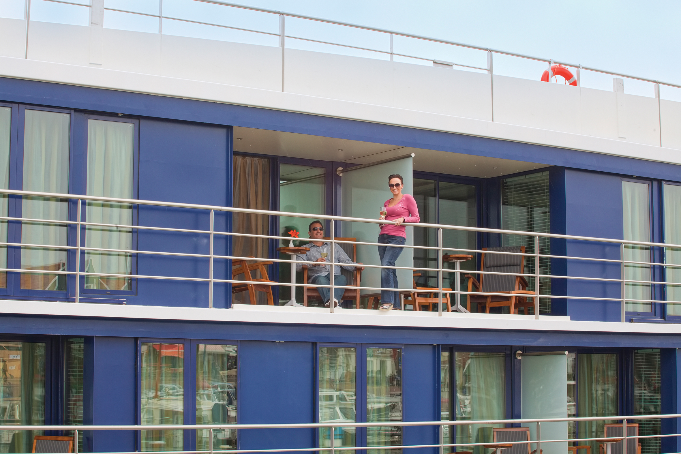 The newest river cruise ship on the danube launches in for Cruise balcony